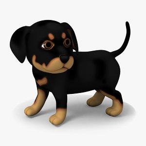 3d model dog doggy rottweiler