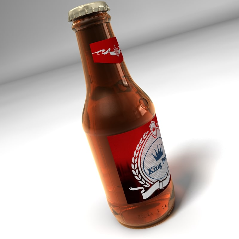 bottle beer 3d 3ds