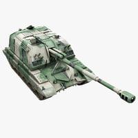 realistic howitzer msta-s 3d model