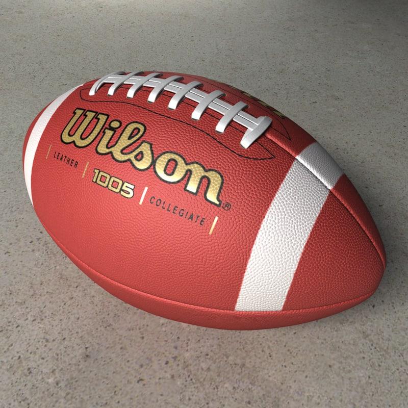 photorealistic football 3d model
