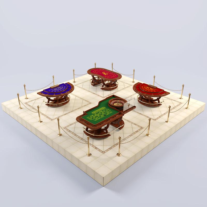 3d casino table model
