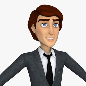 cartoon business man handsome max