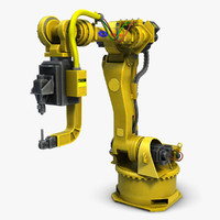 industrial robot arm 2 3d 3ds