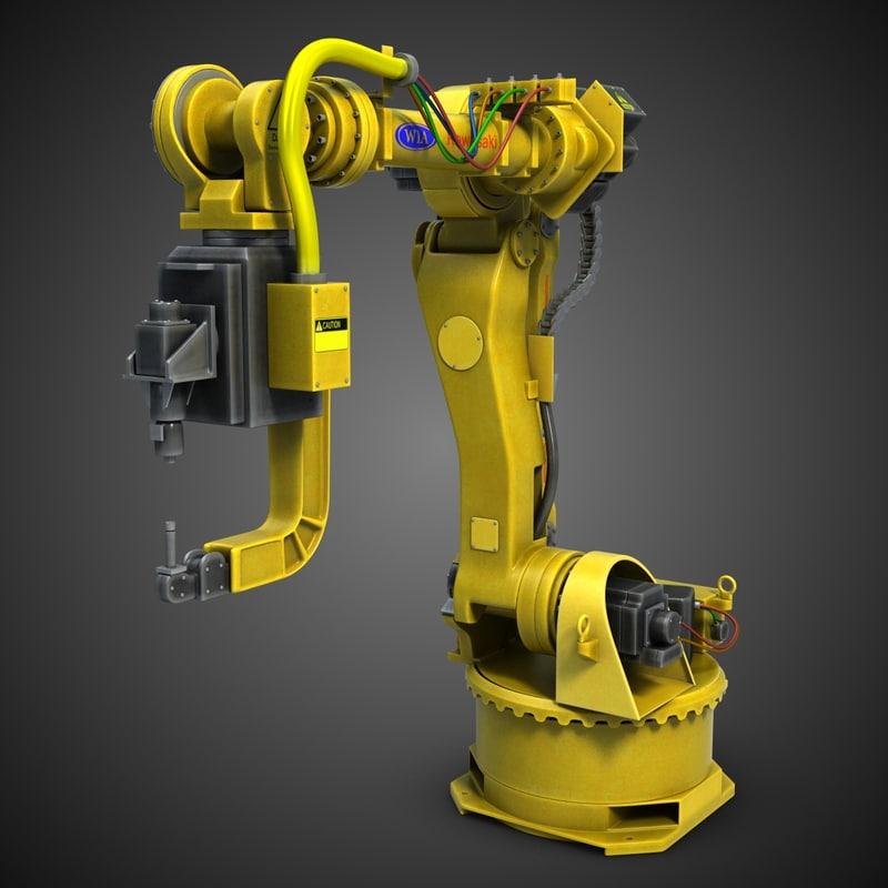 industrial robot arm 2 3d 3ds