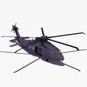 stealth helicopter 3D models
