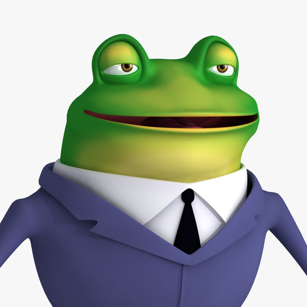 cartoon frog suit 3d max