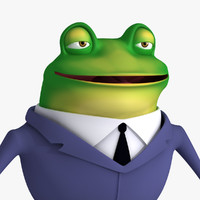 Cartoon Frog in Suit
