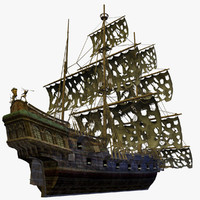 Pirate Ship Detailed