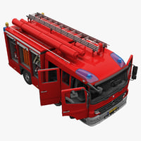 Mercedes Atego Fire Truck Rigged