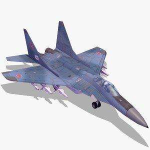 3d model russian navy mig29k fighter