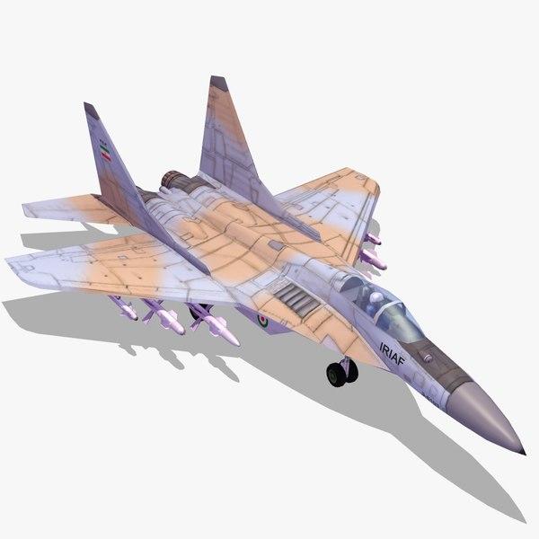 3d iranian air force mig29 model