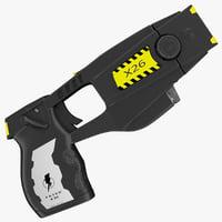 realistic police stun gun 3d max