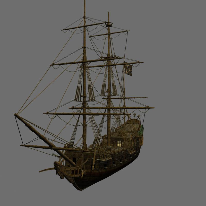 Pirate Ship Detailed