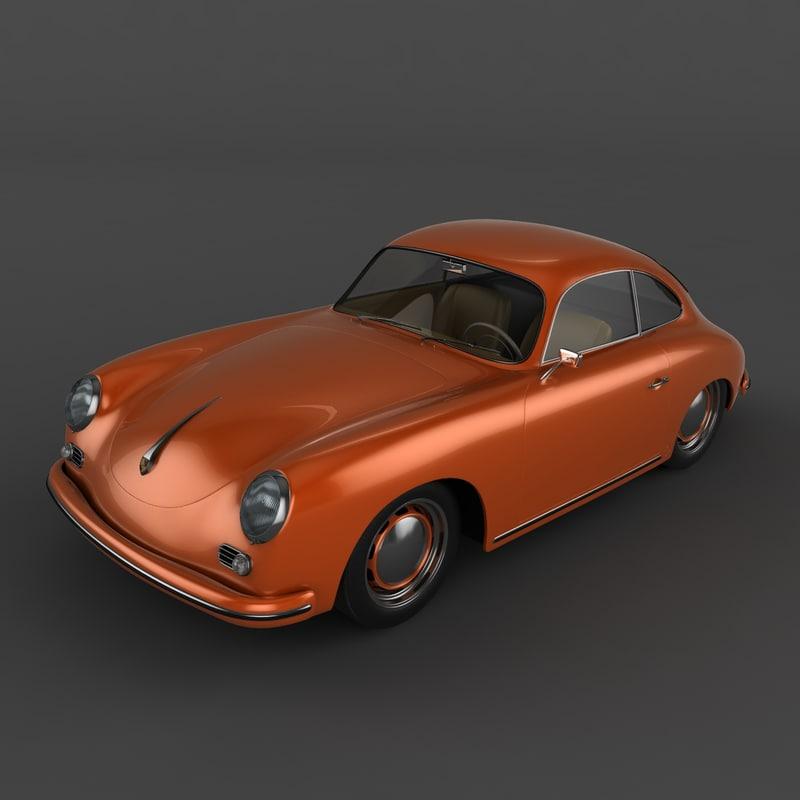 Porsche 356: 3d Porsche 356 Model