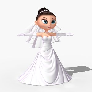 3dsmax cartoon bride