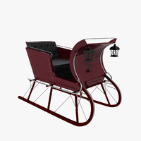 sled sleigh 3d model
