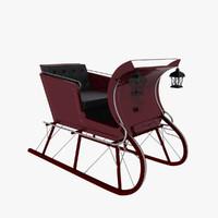 sled sleigh 3d model