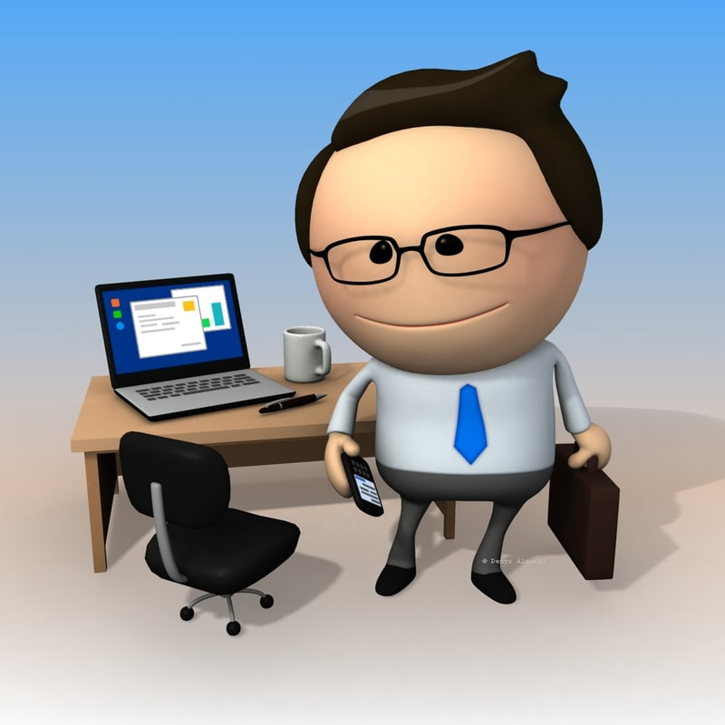 3dsmax clipart rigged business man