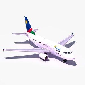 3dsmax airbus a319 air namibia