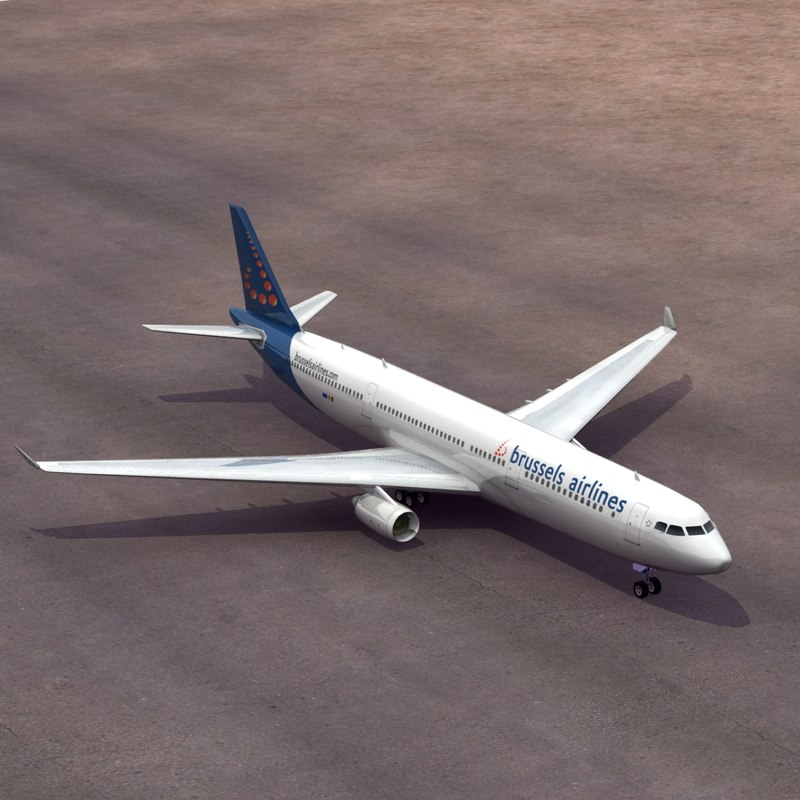 3d model airbus brussels a330