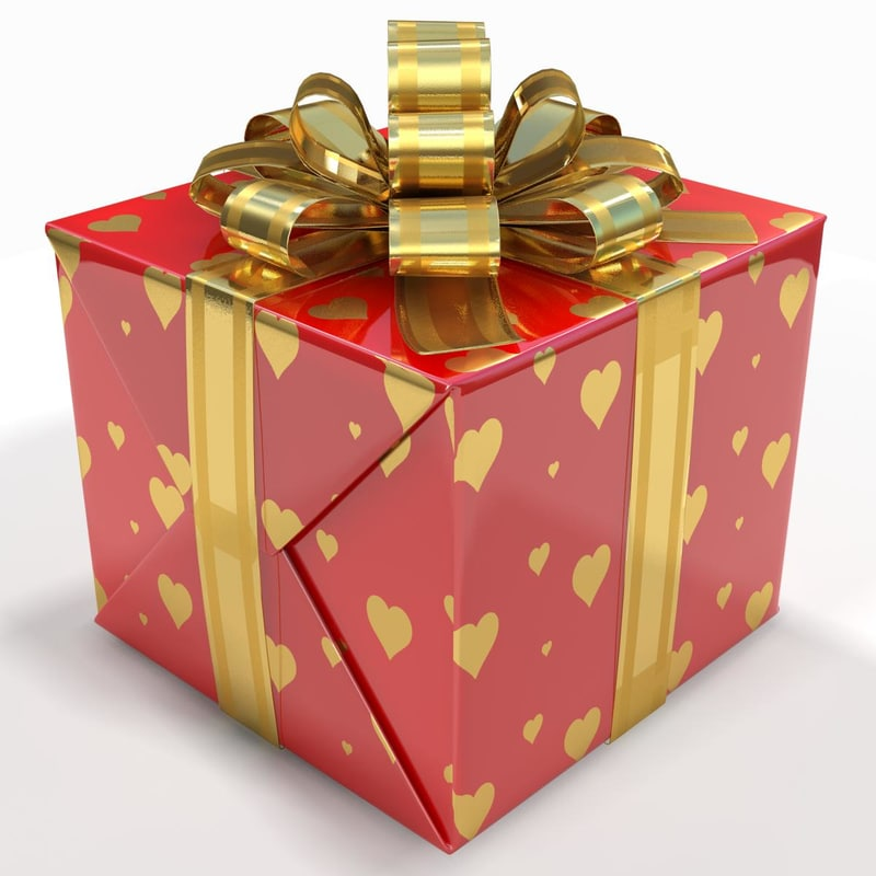 3d box gift red