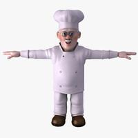 3d model chef character cartoon