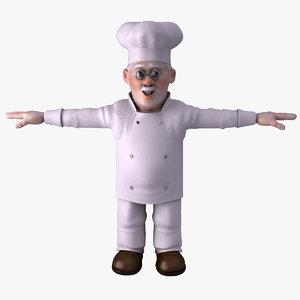 3d model chef character cartoon