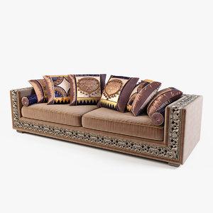 sofa modeled 3d model