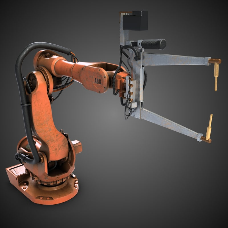 3d 3ds robot modeled