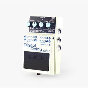 boss dd-7 guitar pedal lwo