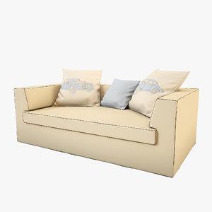 cloth sofa 3d max
