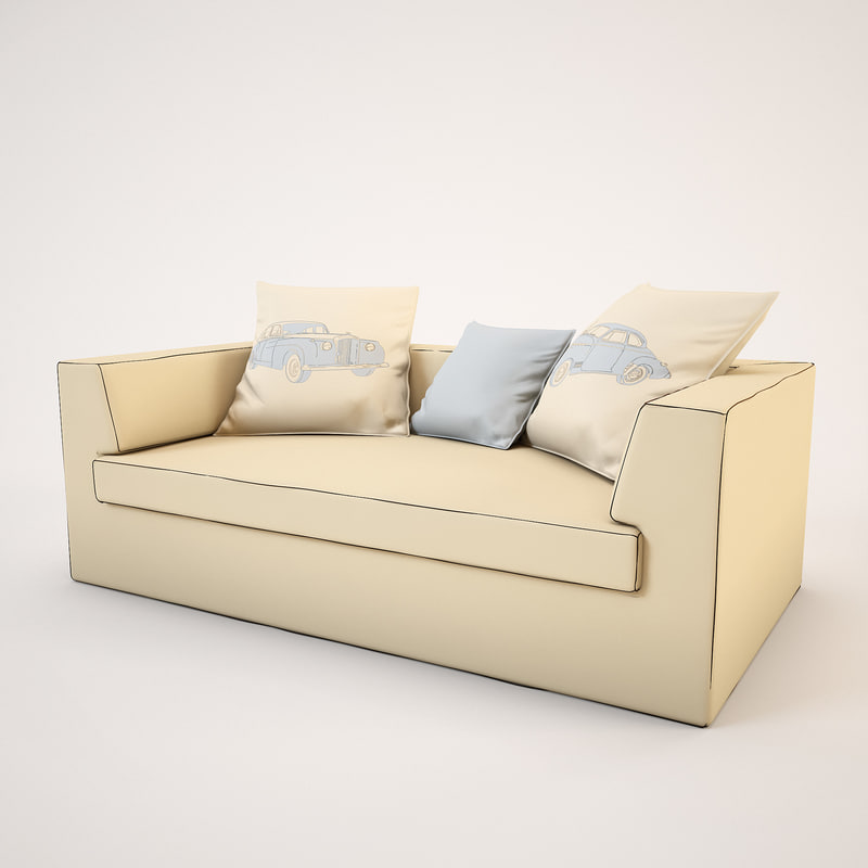 cloth sofa 3d max
