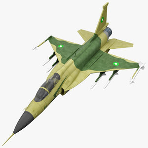 3d model of realistic jf-17 thunder fighter
