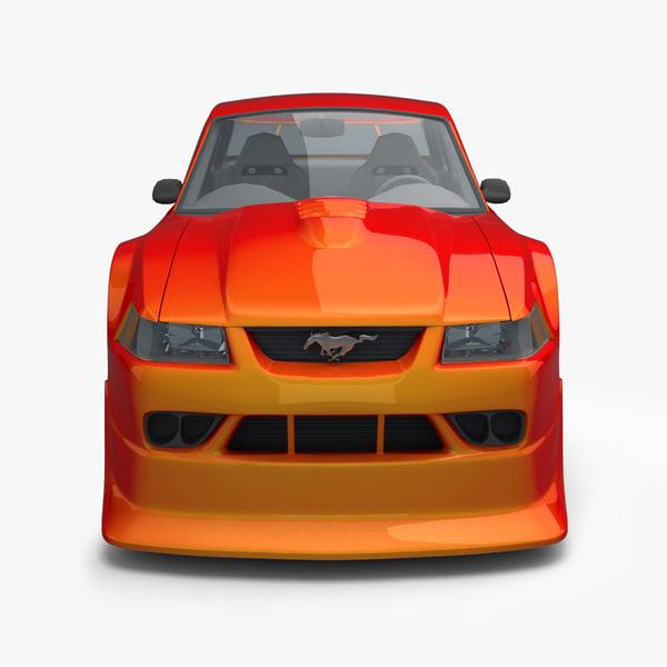 cartoon car - mustang 3d model
