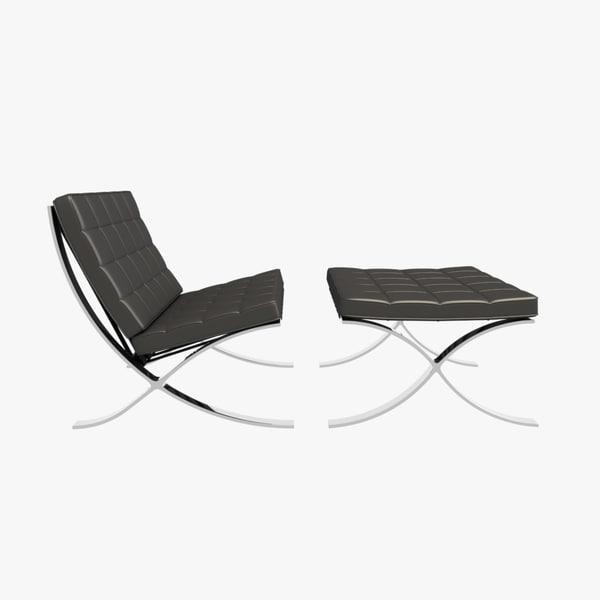 dxf barcelona lounge chairs