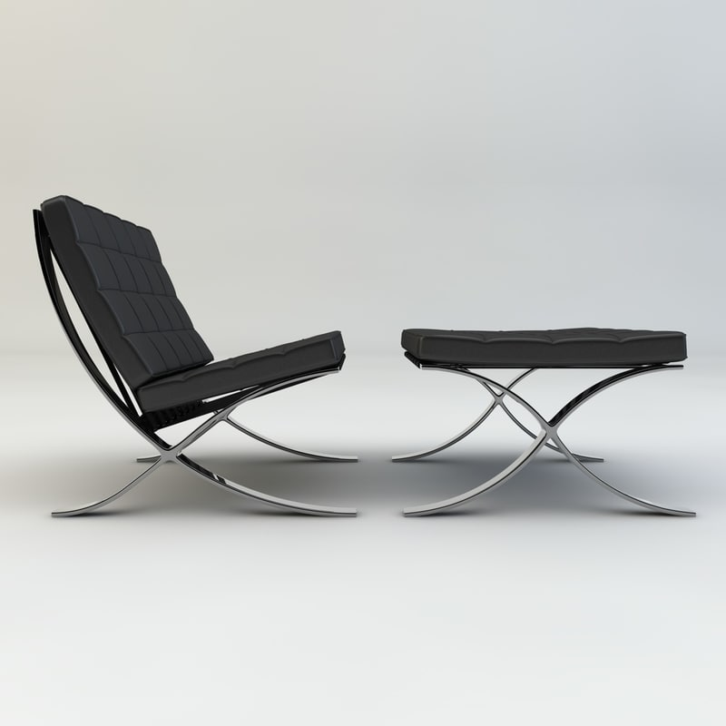 dxf barcelona lounge chairs