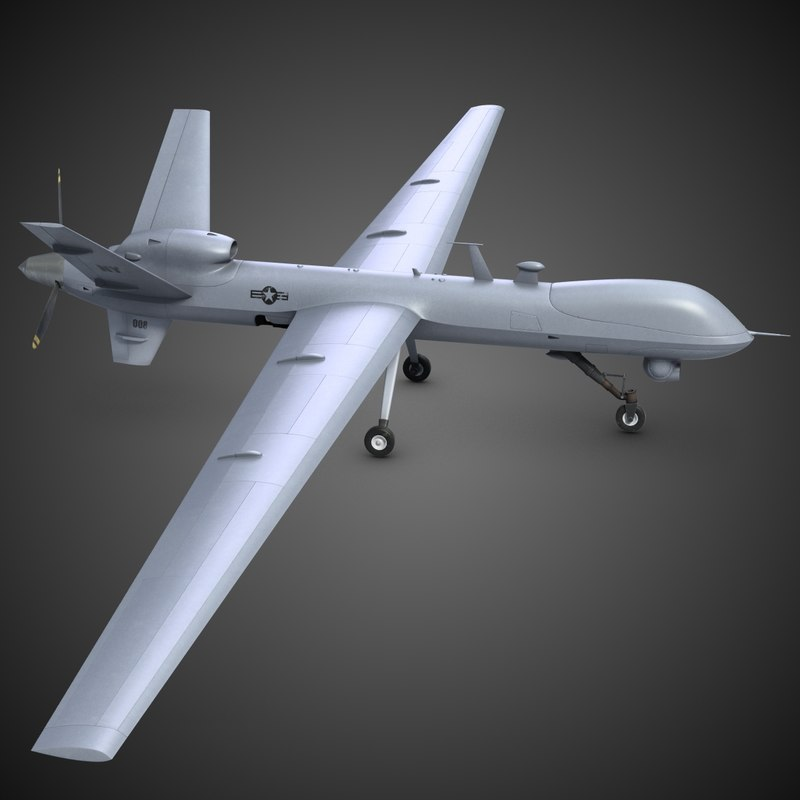 3d model of reaper unmanned vehicle 9