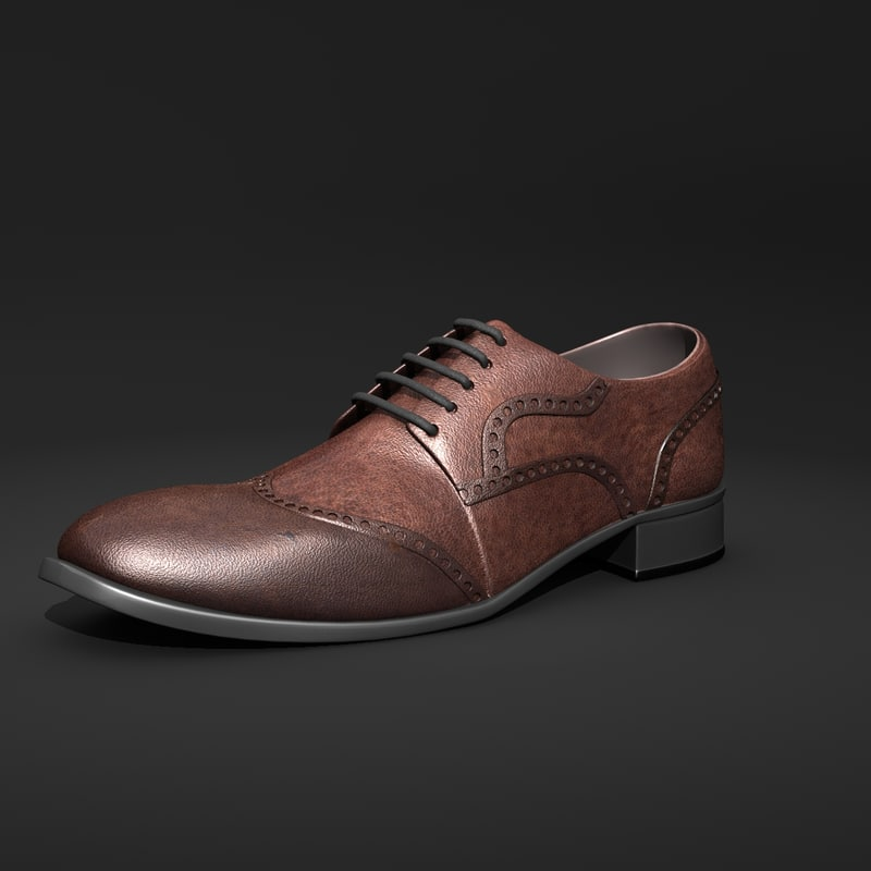 shoe man leather 3d model
