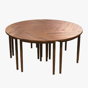 3d pinwheel table model