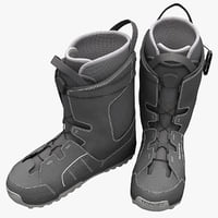 snowboarding boots salomon 3d model