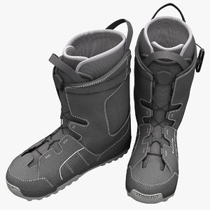 snowboarding boots salomon 3d model