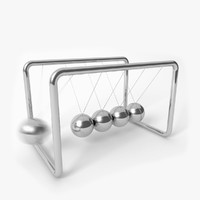 3d model newton s cradle