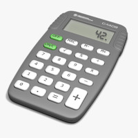 3d model of pocket calculator calc