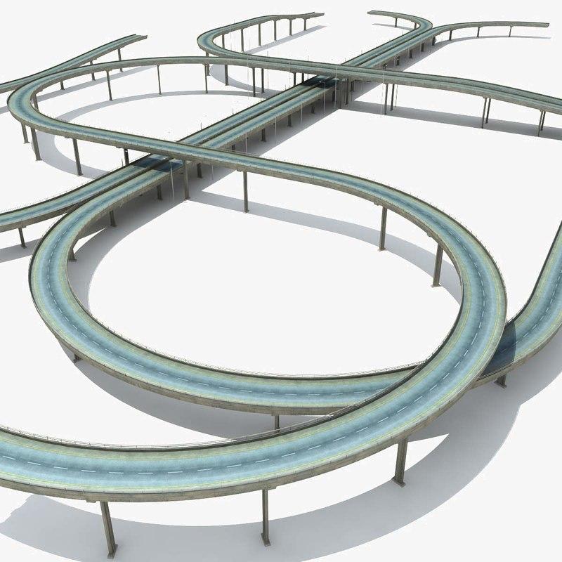 highway set bridges overpass max