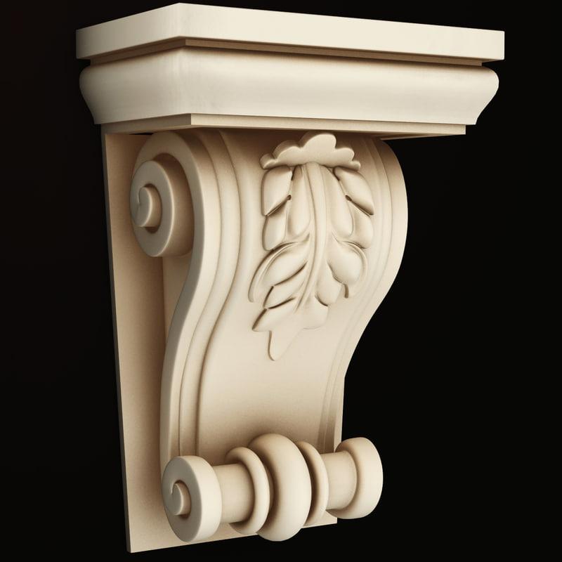 3d classical decoration interior
