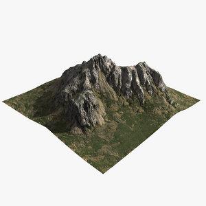 3d obj rocky mountain