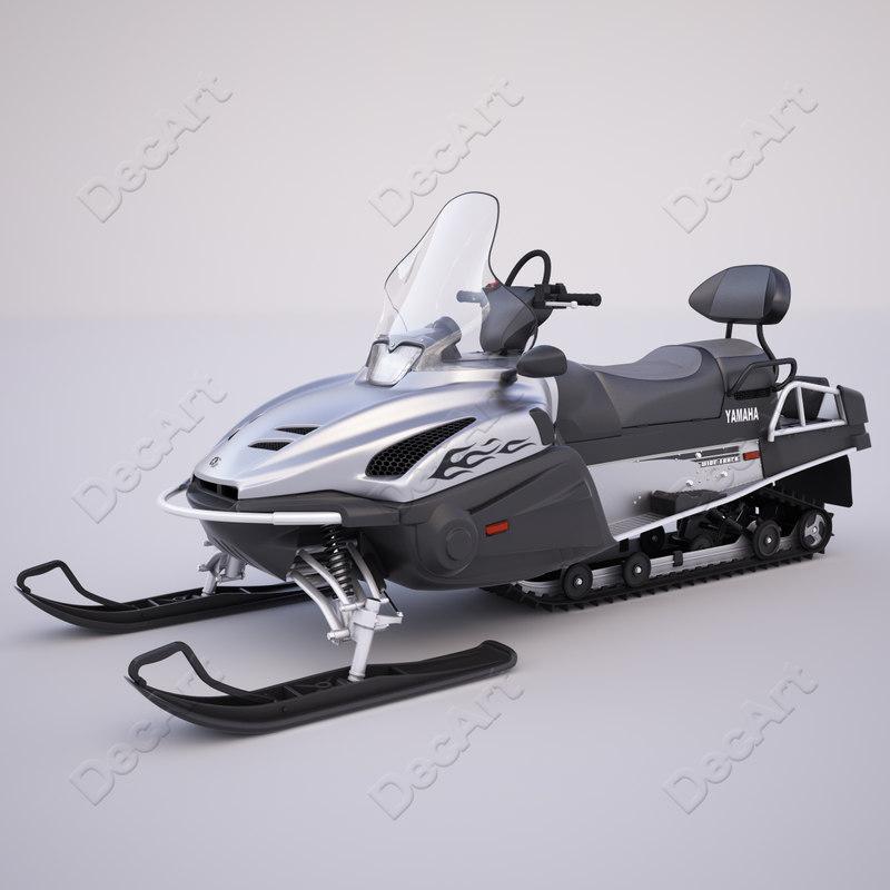 yamaha viking professional snowmobile 3d max