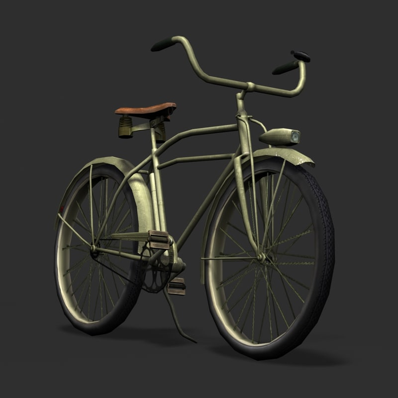 army bicycle huffman 3d model