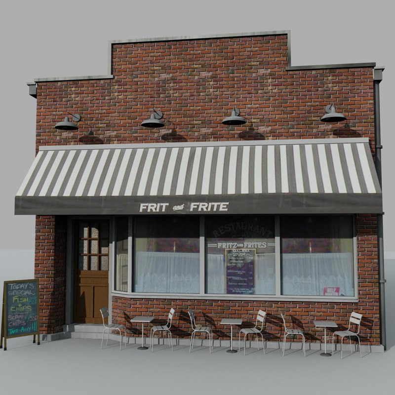 3ds max small restaurant