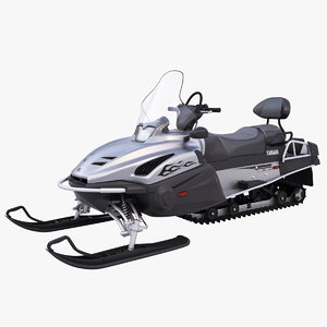 yamaha viking professional snowmobile 3d max